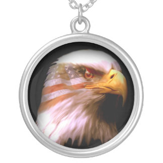America's Eagle Silver Plated Necklace