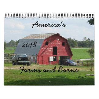 America's Farms and Barns Calendar 2018