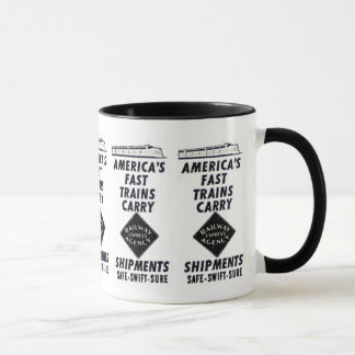 America's Fast Trains Carry Railway Express Mug