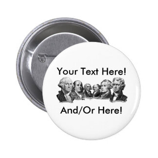 America's Founding Fathers 2 Inch Round Button