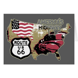 America's Highway Route 66 Card