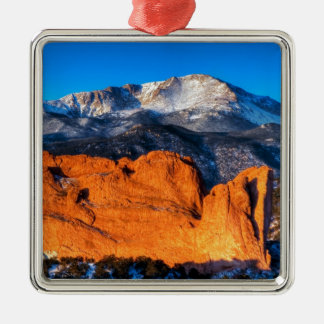 America's Mountain at Sunrise Metal Ornament