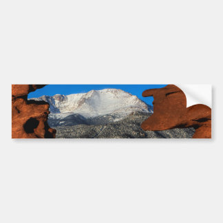 America's Mountain Framed by Sandstone Bumper Sticker