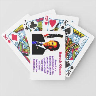 America's Possibilities Are Limitless - Barack Oba Bicycle Playing Cards