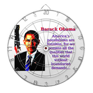 America's Possibilities Are Limitless - Barack Oba Dartboard