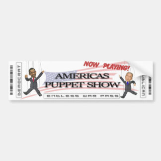 Americas Puppet Show Bumper Sticker