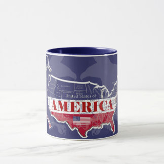 America's States Colors Bald Eagle Blue Mug