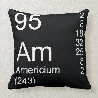 Americium Throw Pillow