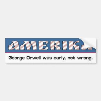 Amerika Bumper Sticker