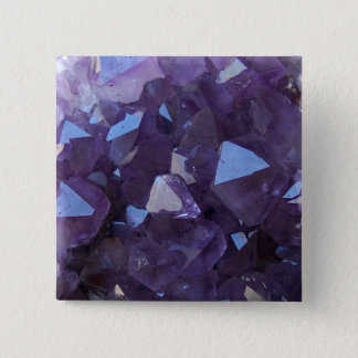 Amethyst 2 Inch Square Button