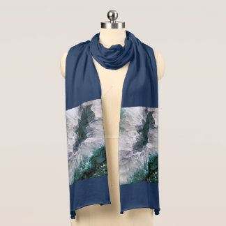 Amethyst Abstract Scarf