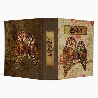 Amethyst & Amber  Owls Baby Book Binder