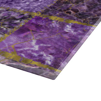 Amethyst and Gold  Square Pattern Boards