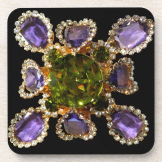 Amethyst and Peridot Coasters