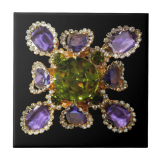 Amethyst and Peridot Tile