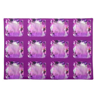 Amethyst Birthstones Gems by SHARLES Place Mats