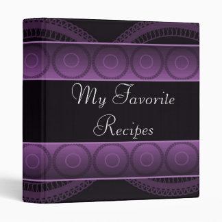 Amethyst Circles Recipe Book 3 Ring Binders