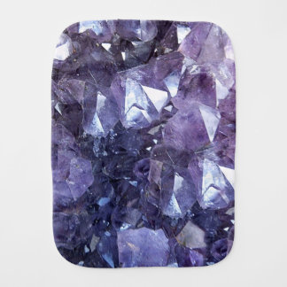 Amethyst Crystal Cluster Burp Cloth