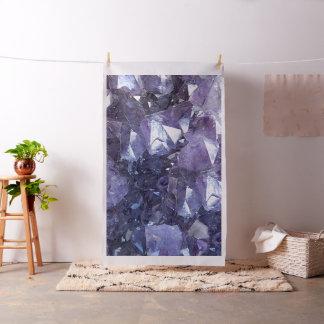 Amethyst Crystal Cluster Fabric