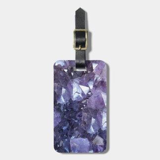 Amethyst Crystal Cluster Luggage Tag