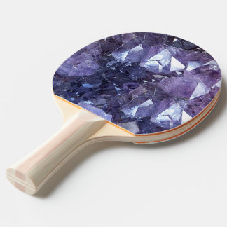 Amethyst Crystal Cluster Ping Pong Paddle