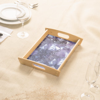 Amethyst Crystal Cluster Serving Tray