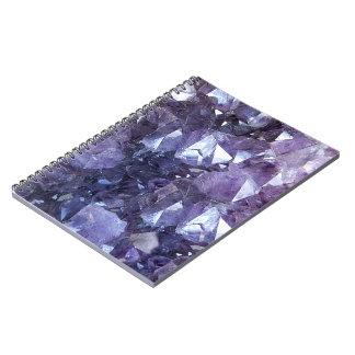 Amethyst Crystal Cluster Spiral Notebook