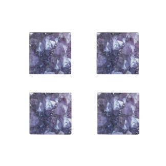 Amethyst Crystal Cluster Stone Magnets