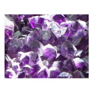 Amethyst Crystal Post Card