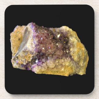 Amethyst Crystals Photo Drink Coasters