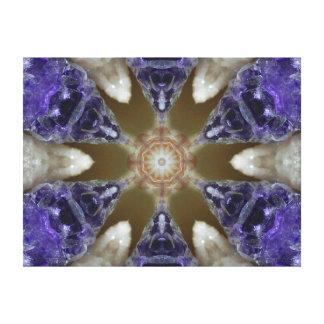 Amethyst Delight Crystal Mandala Canvas