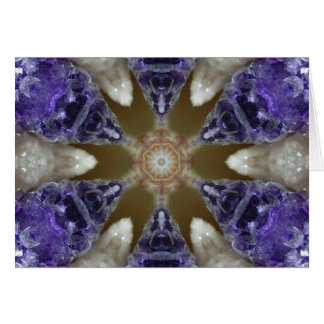 Amethyst Delight Crystal Mandala Card