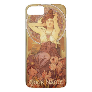 Amethyst Design by Mucha with Name iPhone 8/7 Case