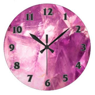 Amethyst design large clock