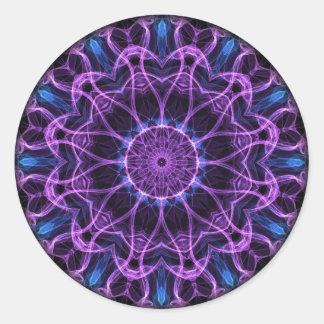 Amethyst Desire kaleidoscope Classic Round Sticker