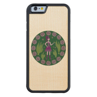 Amethyst Faerie Carved® Maple iPhone 6 Bumper Case