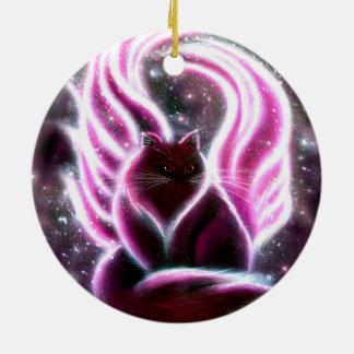 Amethyst Fairy Cat Ornament