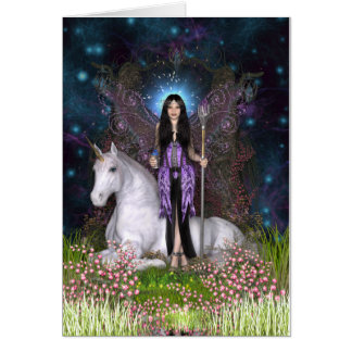 Amethyst Fairy & Unicorn Card
