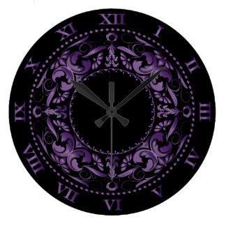 Amethyst Filigree & Roman Numerals Large Clock