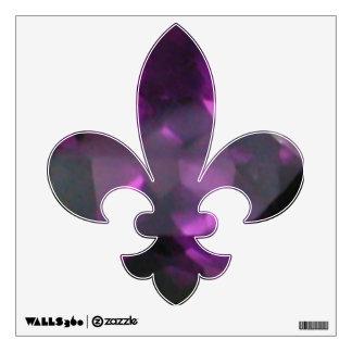 Amethyst Fleur De Lis Wall Sticker