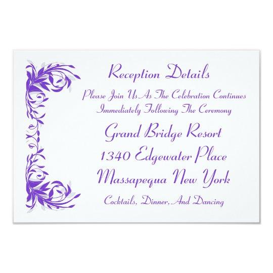 Amethyst Flourish Reception Card