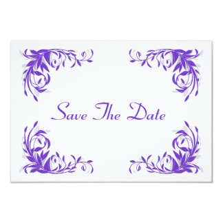 Amethyst Flourish Save The Date Card