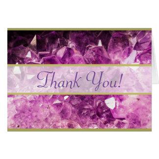 Amethyst Gemstone Image Thank You Greeting Cards