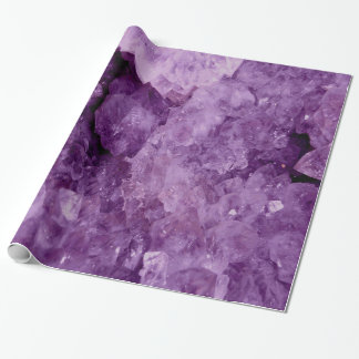 Amethyst Geode Gemstone Wrapping Paper