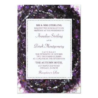 Amethyst Geode | Violet Wedding Invitation