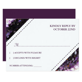 Amethyst Geode | Violet Wedding RSVP Card