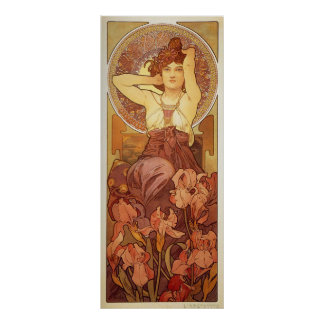 Amethyst Illustration by Alphonse Mucha Poster