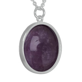 Amethyst Image - Sterling Necklace - Personalize