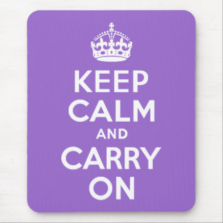 Amethyst Keep Calm and Carry On Mouse Pad