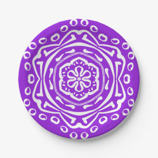 Amethyst Mandala 7 Inch Paper Plate